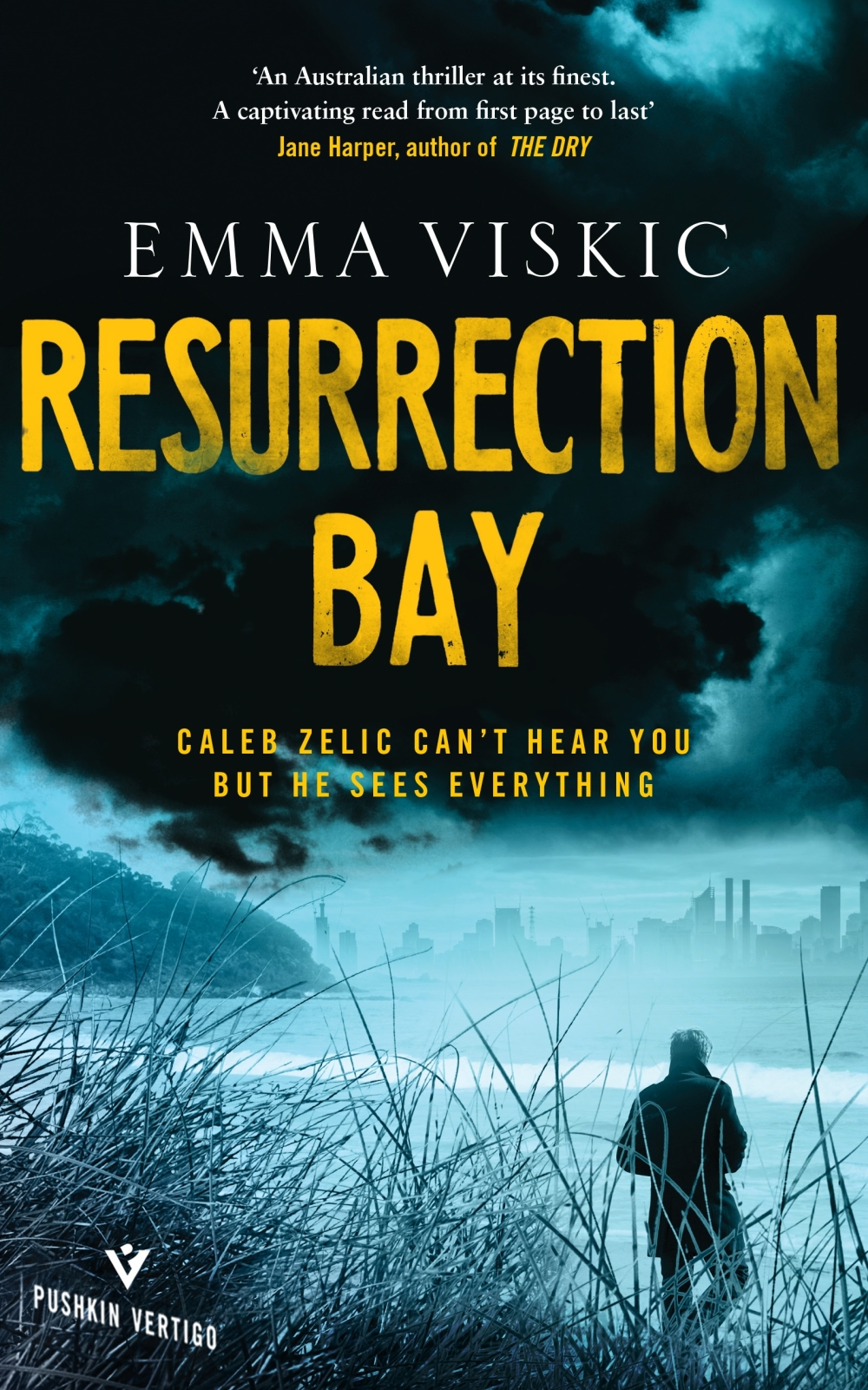 Resurrection Bay by Emma Viskic book review by Dave Lancaster for Hits the Fan blog
