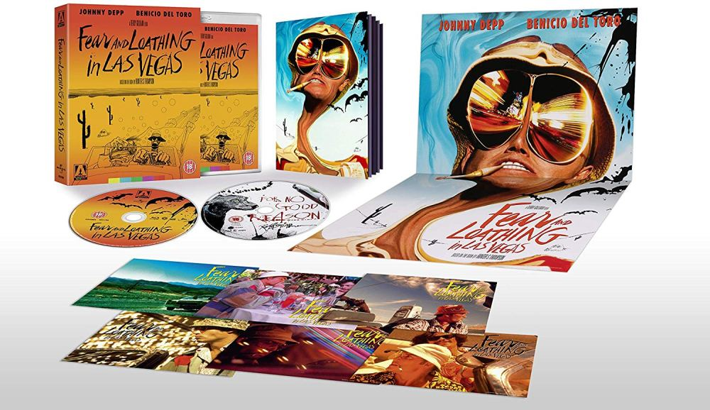 Johnny Depp and Benicio Del Toro star in Terry Gilliam's 1998 film adaptation of Hunter S Thompson's counter-culture gonzo journalism novel Fear and Loathing in Las Vegas